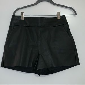 Express high waisted leather shorts